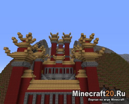 Карта храма (Храм в горе) Minecraft