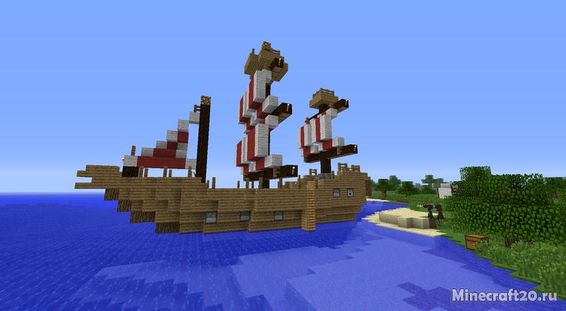 мод для майнкрафт на корабли и замки #6