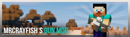 Мод MrCrayfish's Gun [1.12.2] (Модульное оружие)