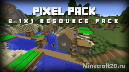 Ресурспак Pixel (1x) [1.12.2] [1.11.2] (Самые низкие текстуры)