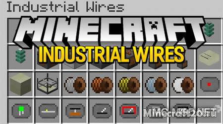 Мод Industrial Wires [1.12.2] [1.11.2] (Энергия EU, Провода)
