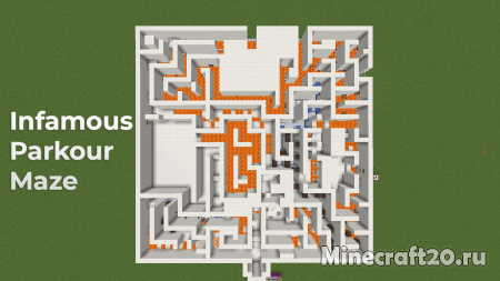 Карта The Infamous Parkour Maze [1.13] (Сложный паркур)