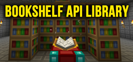 Мод Bookshelf API Library 1.11.2/1.10.2 (Библиотека)