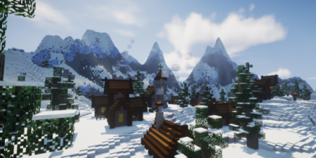 Карта Snowy Mountain Village 1.13.2 (Постройка)