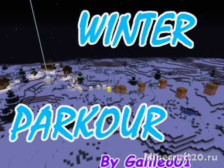 Карта Winter Parkour 1.13.2 (Паркур)