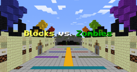 Карта Blocks vs. Zombies 1.13.2 (Мини-игра)