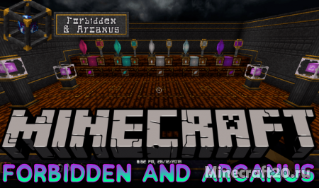 Мод Forbidden and Arcanus 1.14.3/1.12.2 (Магия в игре)