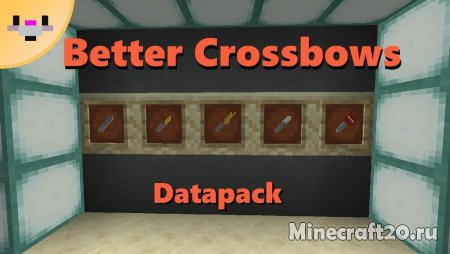 Датапак Better Crossbows/Bolts 1.14.4/1.14.1 (Мощные арбалеты)