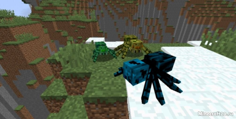 Мод на майнкрафт 1.7.2 злых мобов из человека паука