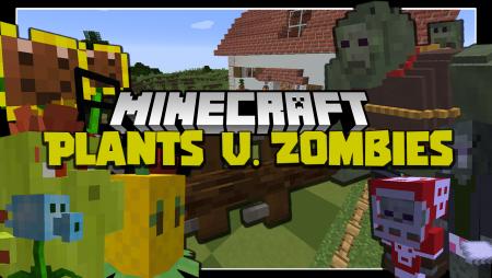 Мод Plants and Zombies 1.16.5/1.15.2 (Растения против зомби)