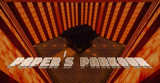 Карта Paper's Parkour 1.16.5 (4 паркур уровня)